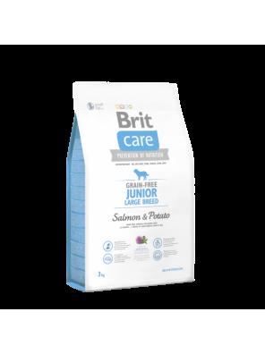 BRIT CARE Grain Free Junior Large, Salmon & Potato (DLUO 07/2019) 3 kg