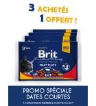 Aliment en gelée pour chats Brit Premium Meat Plate - 2x bœuf et 2x poulet