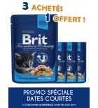 Aliment en sauce pour chats stérilisés Brit Premium au poulet