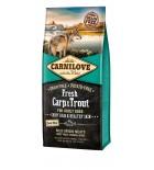 Carnilove Fresh carpe et truite pour chiens - Beauté du poil et santé de la peau (1,5 kg / 12 kg)