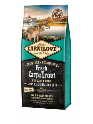 CARNILOVE FRESH Carpe & truite, Pelage et peau chiens adultes