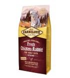 Carnilove Fresh poulet et lapin pour chats adultes - Formule Gourmand (0,4 kg / 2 kg / 6 kg)