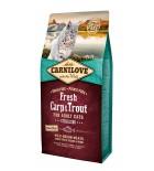 Carnilove Fresh Carpe et truite pour chats stérilisés (0,4 kg / 2 kg / 6 kg)