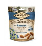 CARNILOVE Crunchy Snack pour chien - Saumon et myrtilles (200 g)
