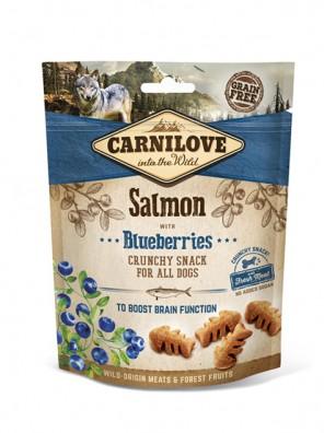 CARNILOVE Crunchy Snack - Saumon et myrtilles (200 g)