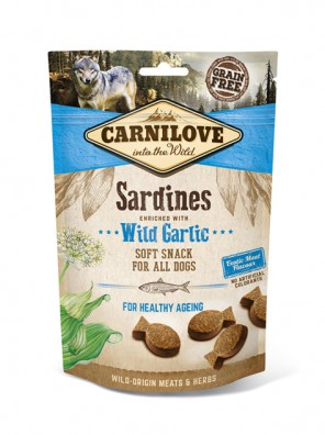 CARNILOVE Soft Snack - Sardine et ail des ours (200 g)