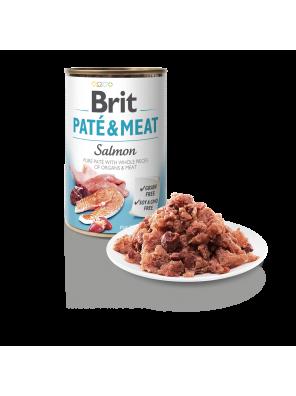 Brit Pate & Meat, pâtée pour chien au saumon (DLUO 07/2020) 400g