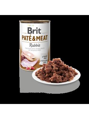 Brit Pate & Meat, pâtée pour chien au lapin (DLUO 07/2020) 400g