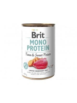 BRIT MONO PROTEIN Pâtée pour chien au thon et à la patate douce (DLUO 07/2020) 400g