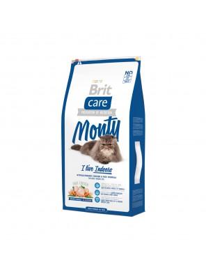 Brit Care Cat MONTY I'M LIVING INDOOR chat d'intérieur (sac abîmé) 7kg DLUO 10/2019