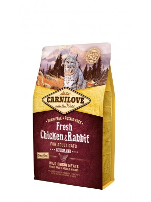 CARNILOVE FRESH Poulet & lapin, Chats adultes (sac abîmé) 6 kg
