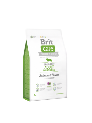 BRIT CARE Grain Free Adult Large Salmon & Potato (DLUO 2019) 3 kg