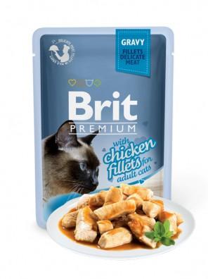 BRIT PREMIUM Cat Delicate - Aliment en sauce pour chats au poulet 85 g
