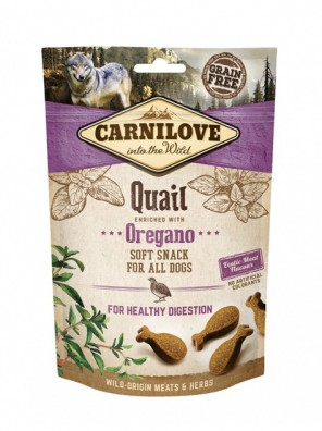 CARNILOVE Soft Snack - Caille et origan (200 g)