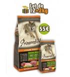PRIMORDIAL Adult Dog - Dinde & Cref (LOT DE 12+2 kg)
