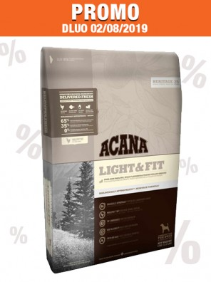 ACANA Light & Fit 6 kg (DLUO 08/2019)