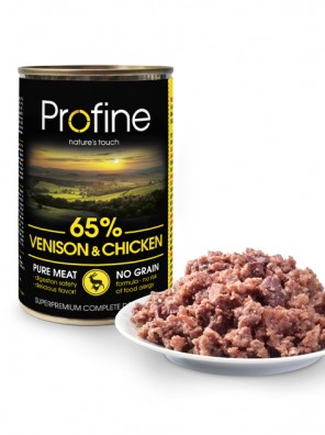 PROFINE Pâtée chien - Venison & Chicken (400g)