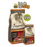 PRIMORDIAL Adult Dog - Maquereau & Buffle (LOT DE 12+2 kg)