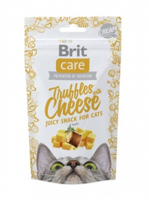 BRIT CARE CAT Snack Juicy Truffles au fromage (DLUO 03/2020) 50 g