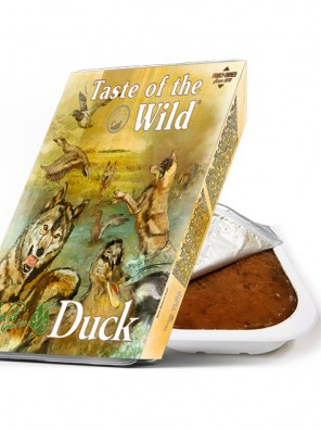 TASTE OF THE WILD Tray Duck & Chicken - Barquette pour chien au canard et poulet (390g)