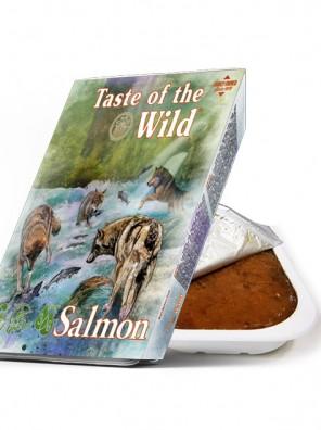TASTE OF THE WILD Tray Salmon & Herring - Barquette pour chien au saumon et hareng (390g)