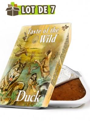 TASTE OF THE WILD Tray Duck & Chicken - Lot de 7 barquettes pour chien au canard et poulet (7x390g)