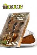 TASTE OF THE WILD Tray Lamb & Chicken - Lot de 7 barquettes pour chien à l'agneau et poulet (7x390g)