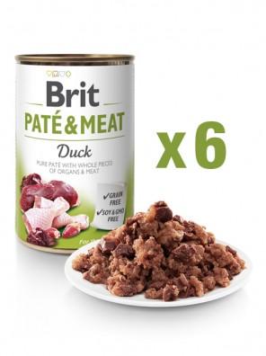 Lot de 6x BRIT PATE & MEAT Canard (DLUO 07/2020) 6x400g