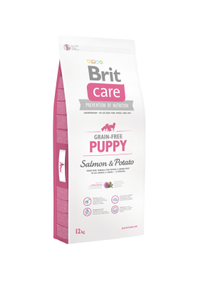 BRIT CARE Grain Free Puppy, Salmon & Potato (sac abîmé) 12kg