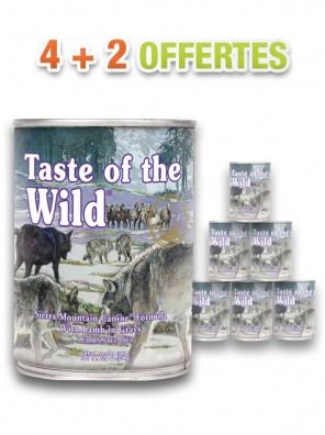 Pâtée pour chiens TASTE OF THE WILD Sierra Mountain (lot de 6x390g)