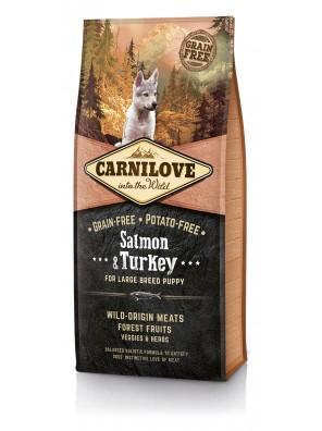 CARNILOVE DOG Salmon & Turkey, Large Breed Puppy