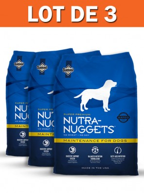 Lot de 3 sacs NUTRA NUGGETS - Maintenance 15 kg