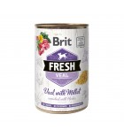 BRIT FRESH - CAN DOG - VEAL WITH MILLET - 400G