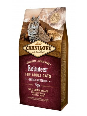 CARNILOVE CAT Reindeer Energy & Outdoor, Chat d'extérieur