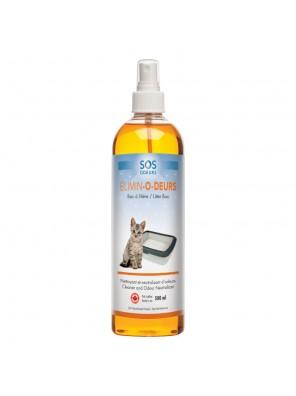 SOS ODEURS Élimin-O-deurs - Neutralisant d'odeur pour bac à litière (0,5L)