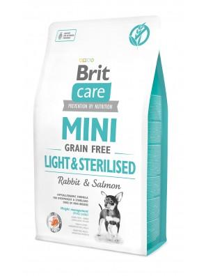 BRIT CARE MINI Adult Grain Free Light & Sterilised (DLUO 06/2020) 2 kg