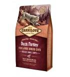 Lot de 2 sacs Carnilove Duck & Turkey - Chat de grande taille (sac abîmé) 6 kg