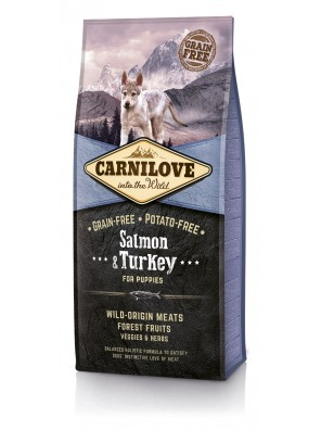 CARNILOVE DOG Salmon & Turkey, Puppy (sac abîmé) 12 kg