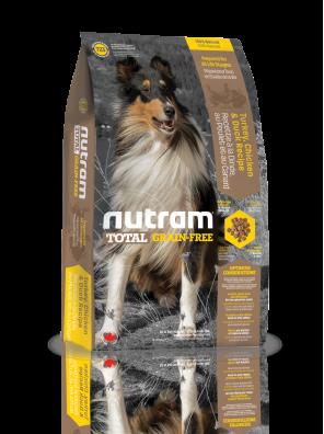Nutram - Total T23 Sans Céréales - Dinde, poulet et canard - (sac abîmé) 11,34 kg