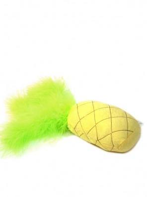 Peluche ananas garnie d'herbe à chat et clochette BeOneBreed