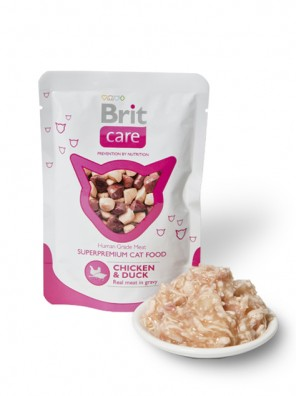 BRIT CARE POUCHES Poulet & Canard - Aliment humide pour chats