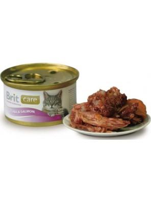 BRIT CARE - Boîte Chat - Thon & Saumon 80g