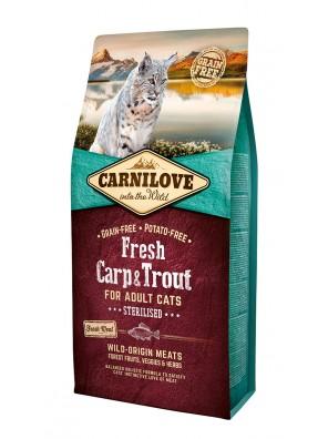 CARNILOVE FRESH Carpe et truite, Chats stérilisés
