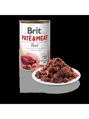 Brit Pate & Meat, pâtée pour chien au bœuf (DLUO 07/2020) 400g