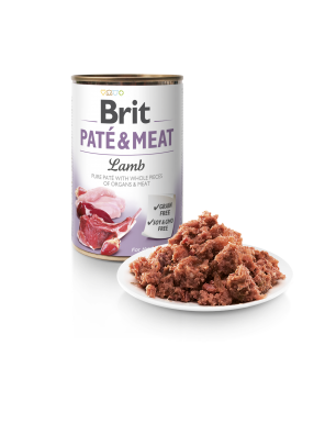 Brit Pate & Meat, pâtée pour chien à l'agneau (DLUO 07/2020) 400g