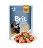 BRIT PREMIUM Cat Delicate - Aliment en gelée pour chats au saumon 85 g DLUO 16/08/2019