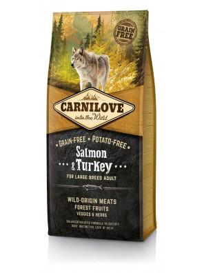 CARNILOVE DOG Salmon & Turkey, Large Breed Adult (sac abîmé) 12kg