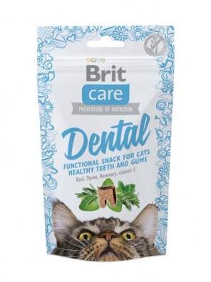 BRIT CARE CAT Snack fonctionnel, santé bucco-dentaire (DLUO 03/2020) 50g