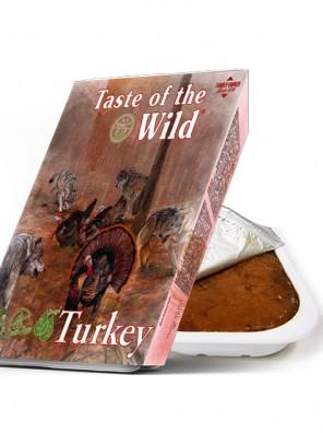 TASTE OF THE WILD Tray Turkey & Duck - Barquette pour chien à la dinde et au canard (390g)