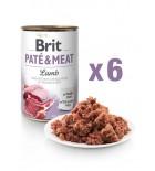 Lot de 6x BRIT PATE & MEAT Agneau (DLUO 07/2020) 6x400g
